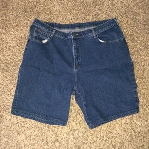 NWOT Plus size denim bermuda shorts